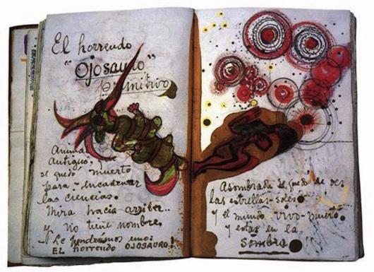 Immagine del journal di Frida Kahlo. vanillasnotes