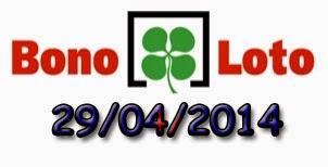 Bonoloto del martes 29/04/2014