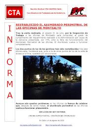 RESTABLECIDO EL ALUMBRADO PERIMETRAL DE LAS OFICINAS DE MONTEALTO