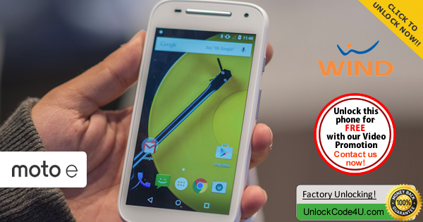 Factory Unlock Code Motorola Moto E 2 generation from Wind