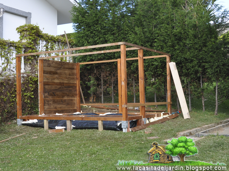Evoluci n la casita del jard n construcci n paso a - La casita de madera ...