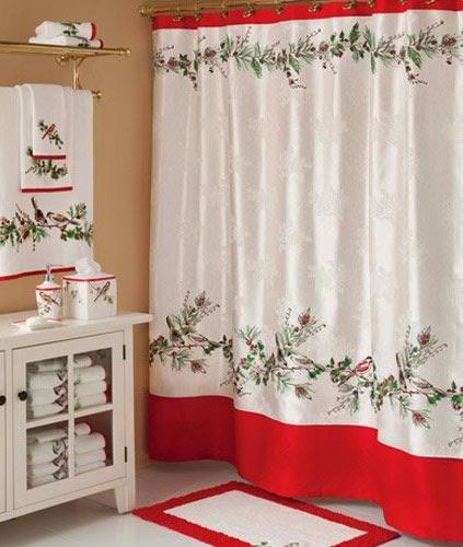 Curtain Ideas Christmas Bathroom Shower Curtains And