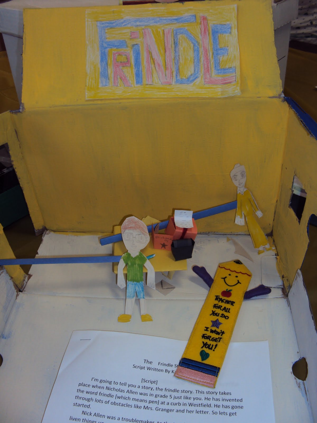 frindle cereal box book report