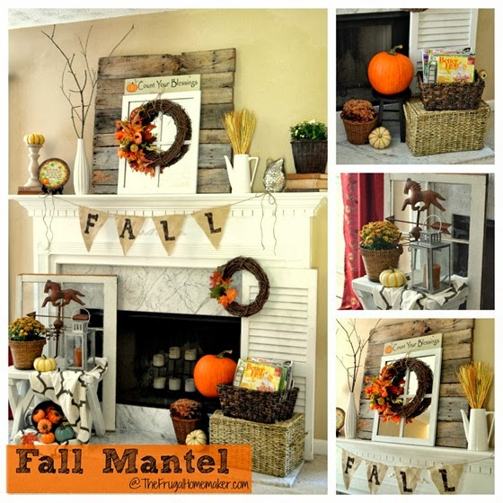 Anyone Can Decorate: Fall Mantle Ideas