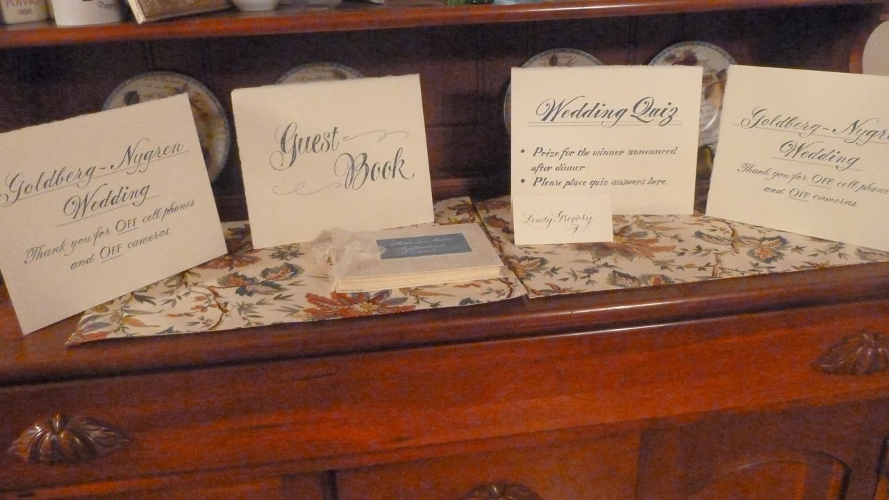 Letter after wedding