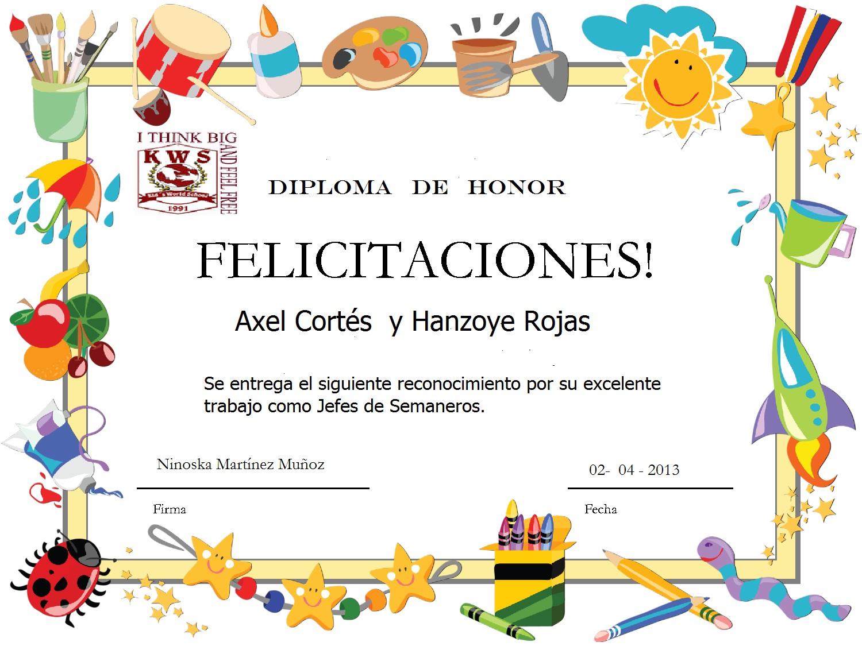 Diplomas para preescolar en Power Point - Imagui