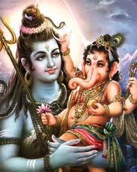 Shiva and son Ganesh