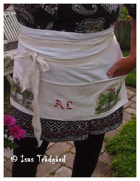 Recykla kökshandduk till trädgårdsförkläde !