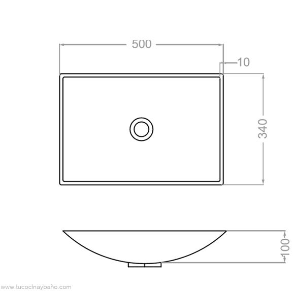 medidas lavabo apoyo solid surface