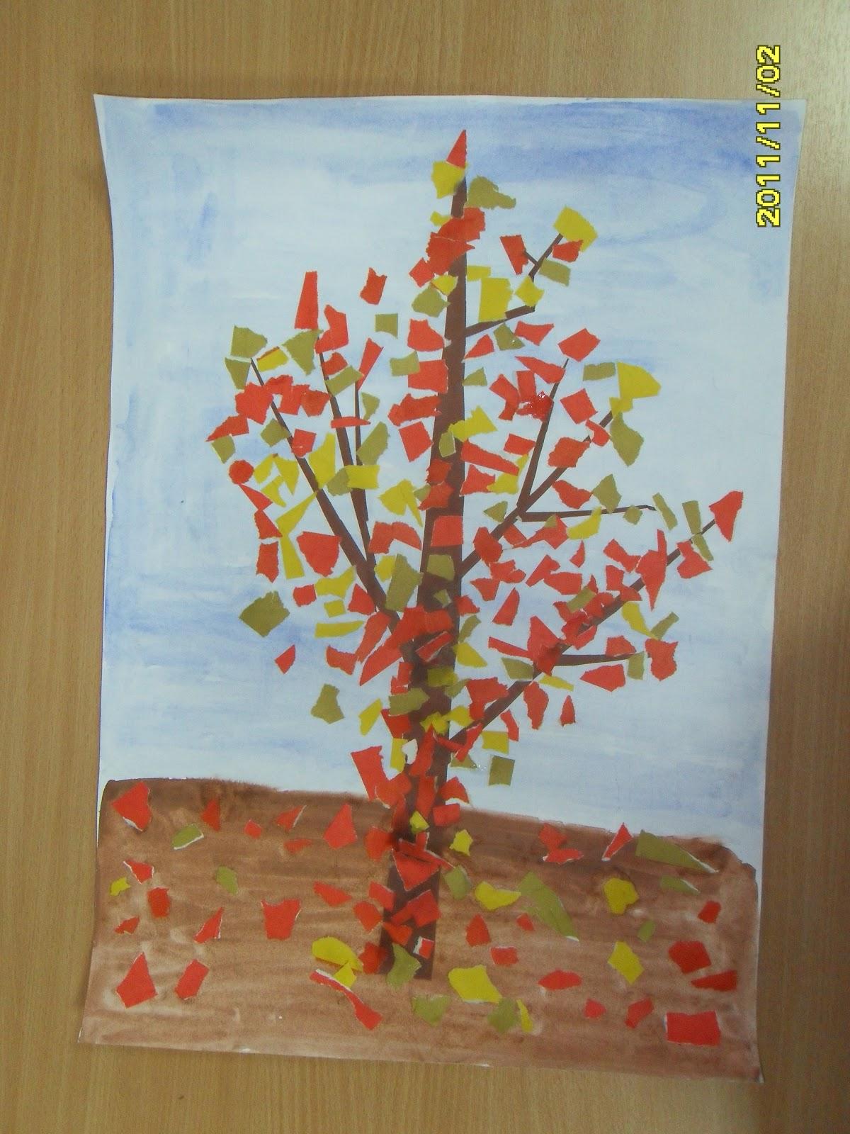 Аппликация из цветной бумаги на тему Осень: пошаговые 13