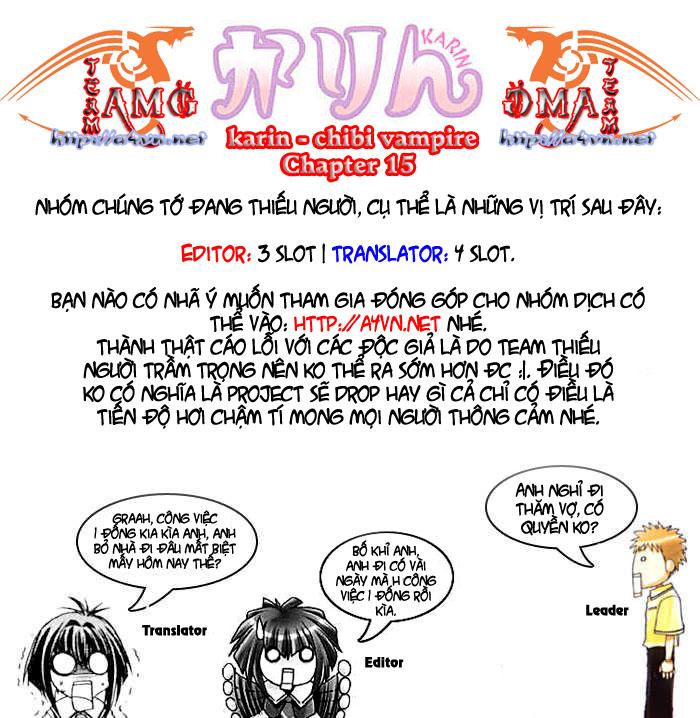 Karin - Chibi Vampire Chap 15 - Next Chap 16