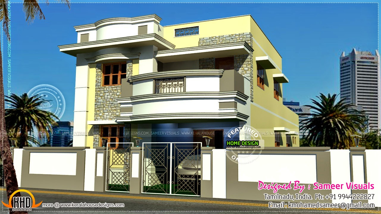 Modern Style Tamil House Kerala Home Design And Floor Plans