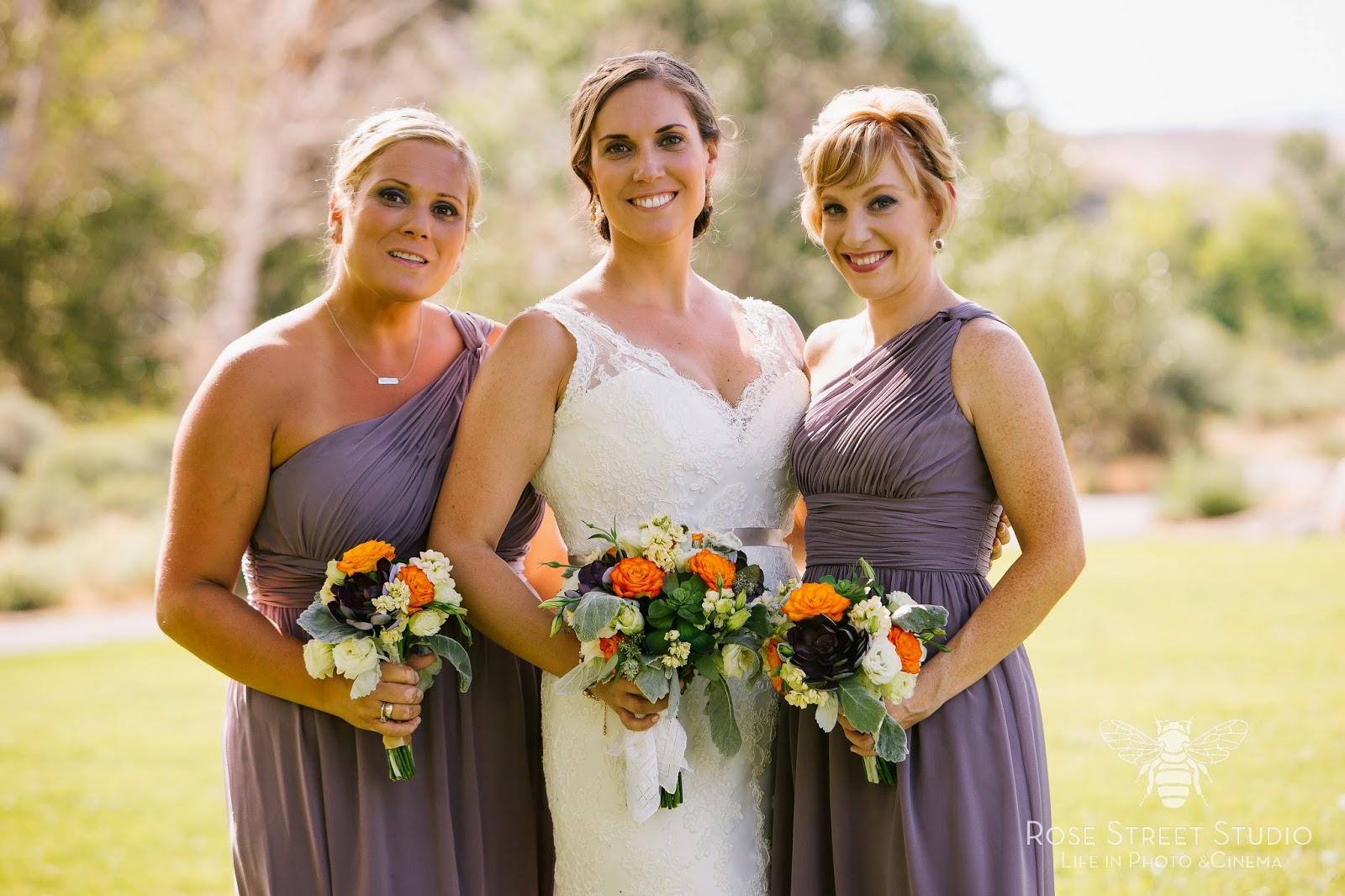 Lavender bridesmaid dresses and bright florals l Rose Street Studio l Take the Cake Event Planning