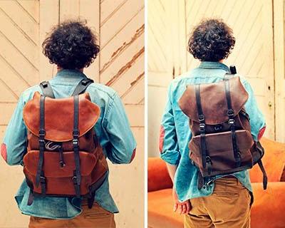 mochilas de piel artesanales