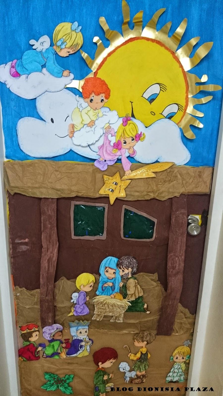 Decoracion reyes magos puerta for Decoracion navidena infantil