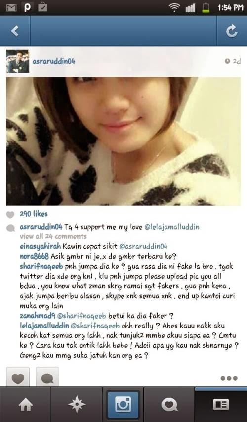 Mohd Putra Omar Bercinta dengan Gadis Fake Facebook