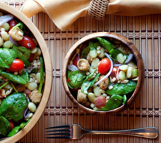 Succotash Salad with Fried Okra Recipe