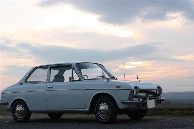 Subaru 1000, stary japoński samochód, oldschool, klasyk