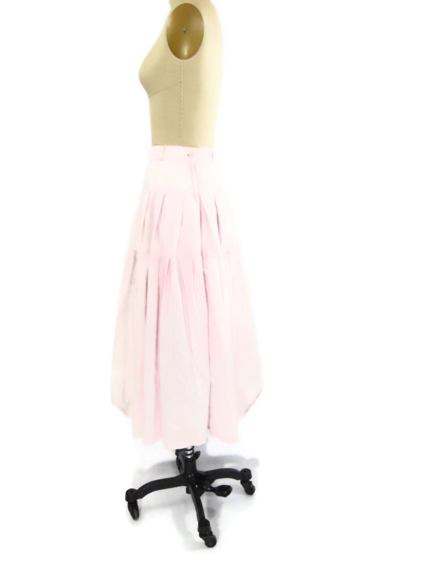 foxburrow vintage 1980s Cotton Pastel Pink Skirt