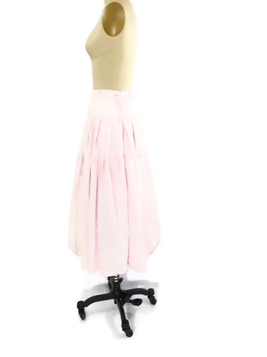 foxburrow vintage 1980s Cotton Pastel Pink Skirt