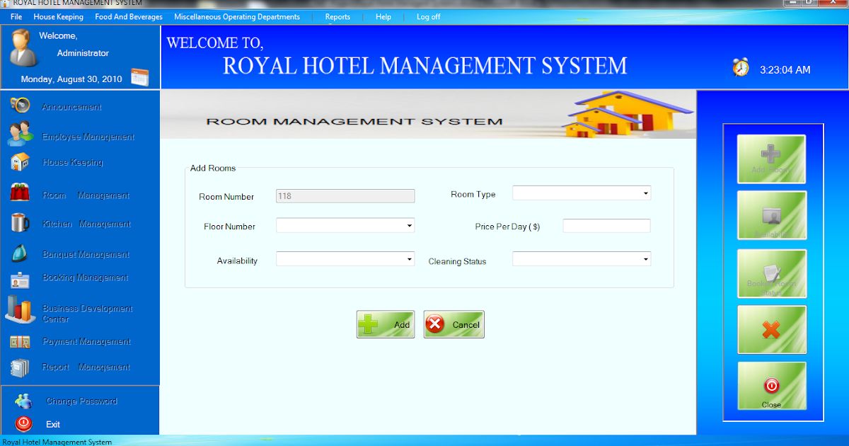 accommodation operation management