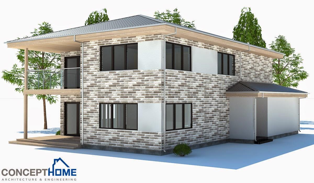 Plantas de casas modernas planta de casa moderna ch178 for Casa moderna 5