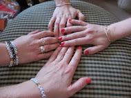 Hjärtringar i silver tillverkade av Ida