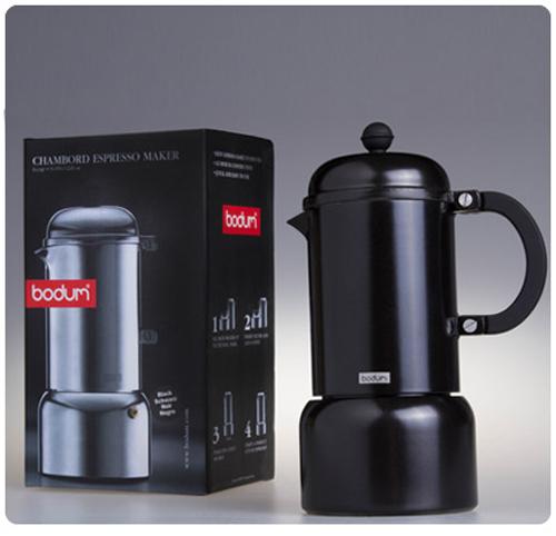 Bodum Italian Coffee Maker : Bodum Chambord Espresso Maker - Black - Hook of the Day