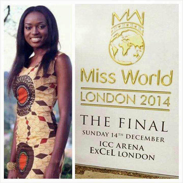 Larissa Ngangoum - Miss Cameroun 2014