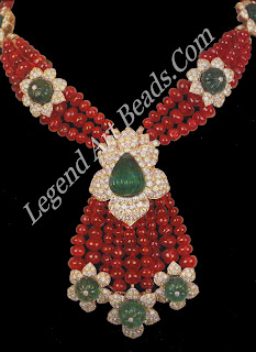 Ruby, diamond, and emerald necklace created for the Aga Khan by Van Cleef & Arpels.