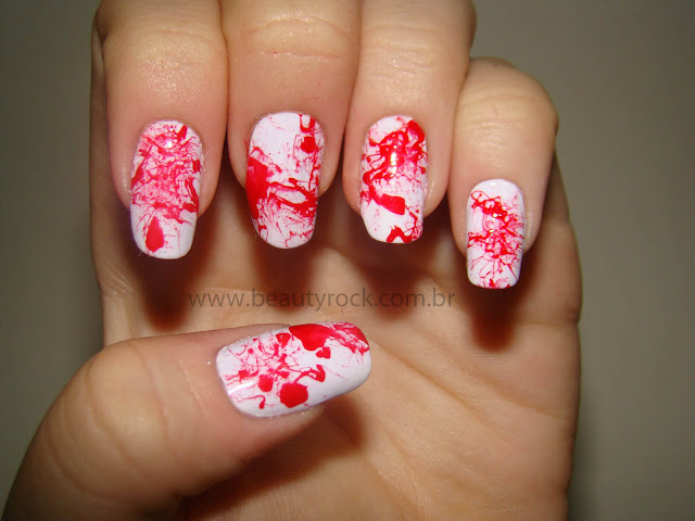 blood nails art, unhas sangue, unhas ensanguentadas