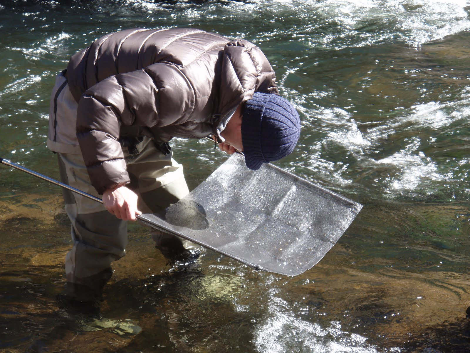 The fly fishing mind of jeff allen how to make a seine net for Seine net fishing