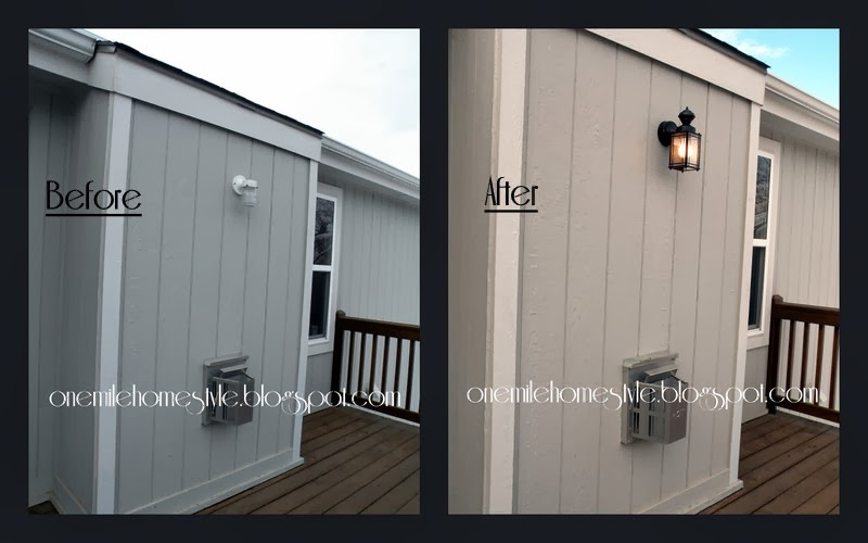 Outdoor Lighting - Before & After