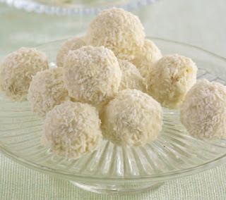 White Chocolate and Coconut Snowballs