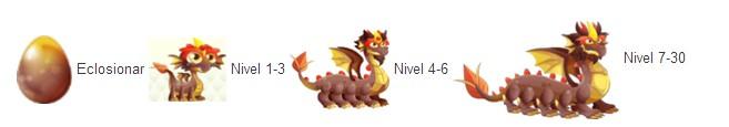 crecimiento del dragon ciempies