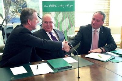 Grains Research and Development Corporation (GRDC) signs deal with BAYER
