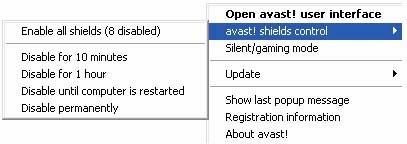 Cara Non Aktifkan (Disable) Avast