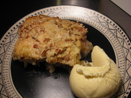 Serve andenjoy the Apple Pecan Cobbler Recipe Dessert