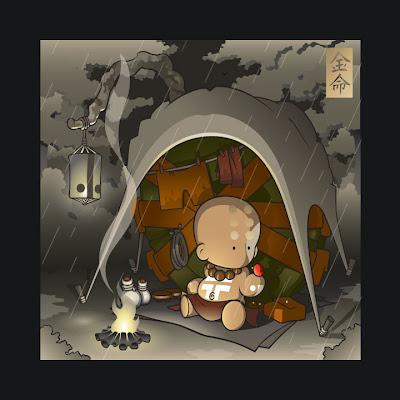 ClutterMunk Print Series by Huck Gee - Campfire