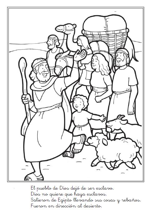 Historia bíblica de Moisés para colorear - Liberación de Israel de ...