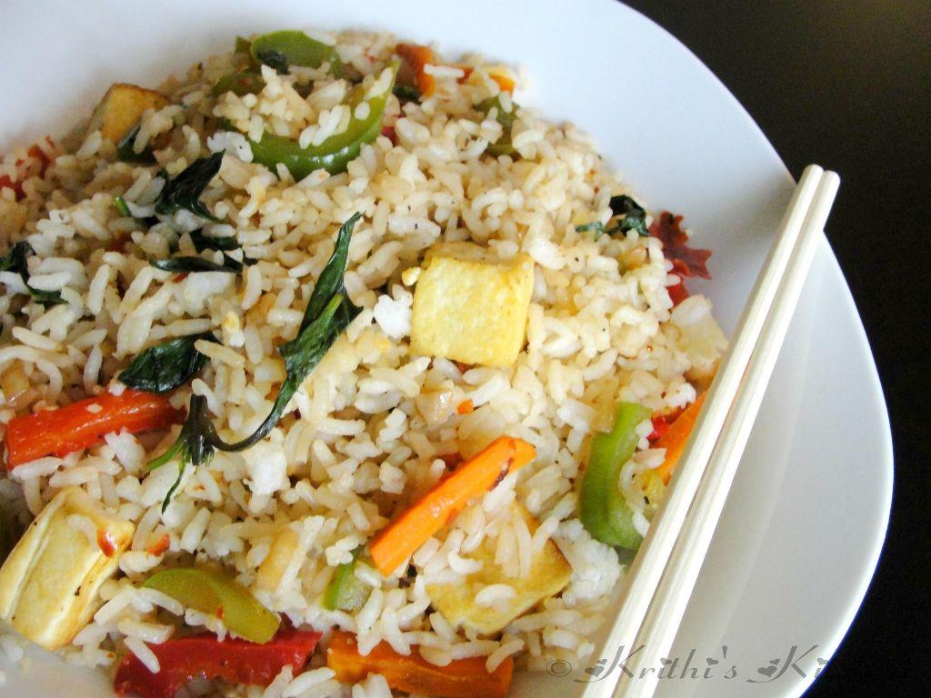 Krithis kitchen garlic basil vegetable fried rice thai style krithis kitchen ccuart Choice Image