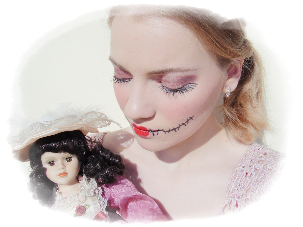 Rdvbeaut une poup e d moniaque pour halloween b reng re in wonderland - Maquillage poupe demoniaque ...