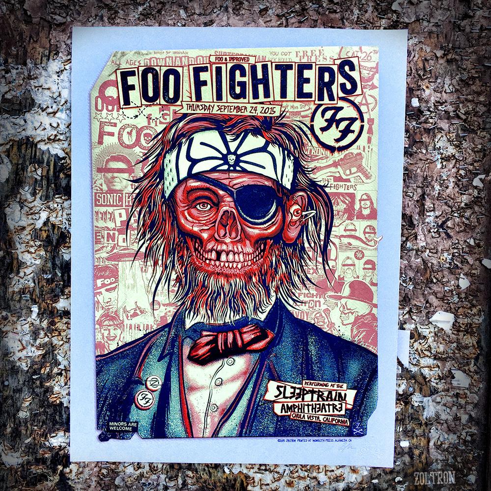 Rock poster frame blog
