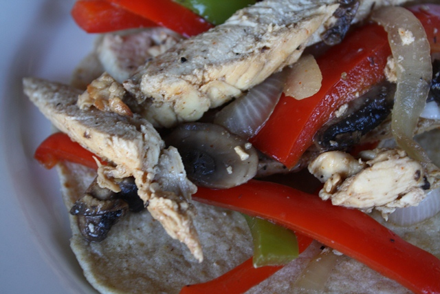 Chicken Fajitas recipe by Barefeet In The Kitchen