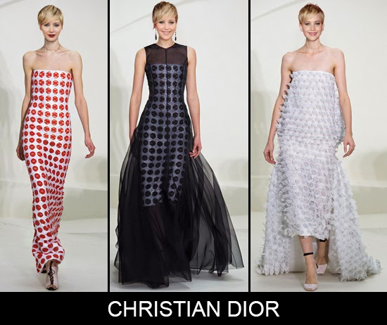 Which Christian Dior couture dress will Jennifer Lawrence choose for Oscars 2014 red carpet fashion prediction