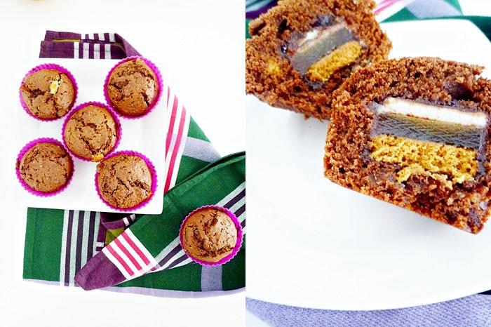 Muffins mit Dominosteine