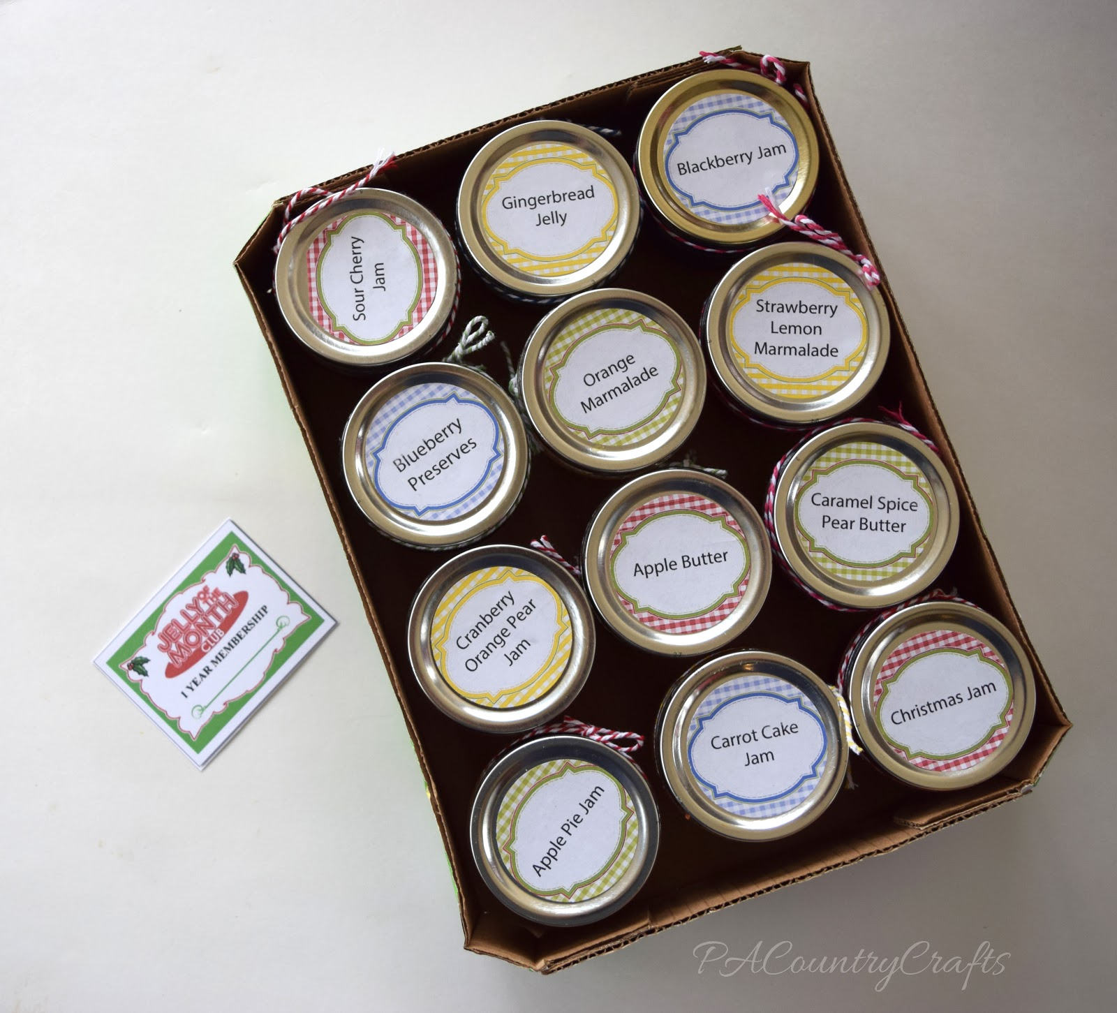 Jelly of the Month Club Christmas Gift Idea — PACountryCrafts