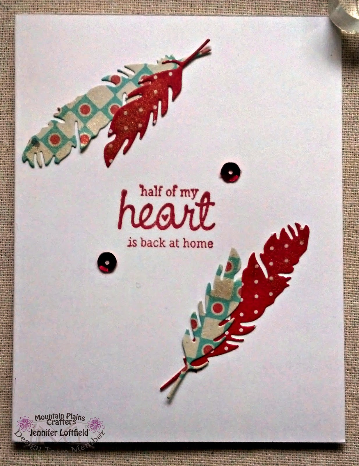 caffeinatedpapercuts.com unity stamp half my heart at home simon says stamp feathers