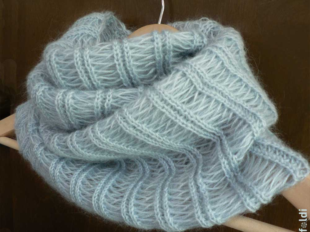 Knitting Patterns For Mohair Scarves : foldi: Icicle mohair cowl