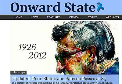 before joe paterno's death, a premature report